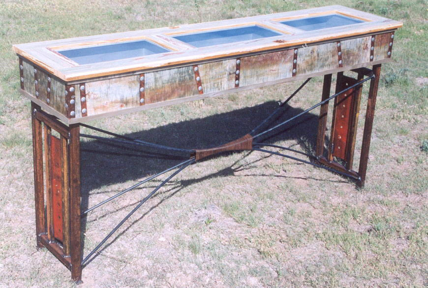 Stock Tank Reliquary Table