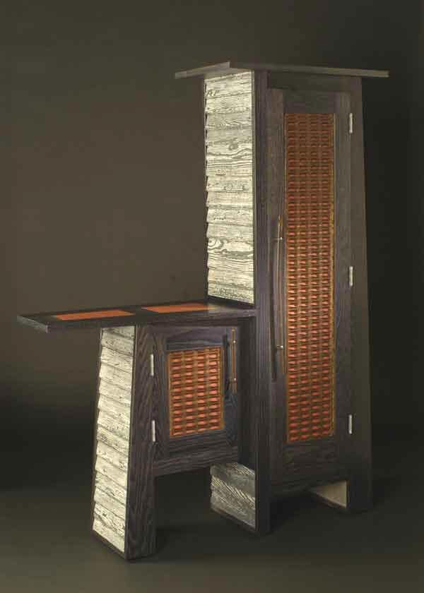 Straw Walker Wine Cabinet