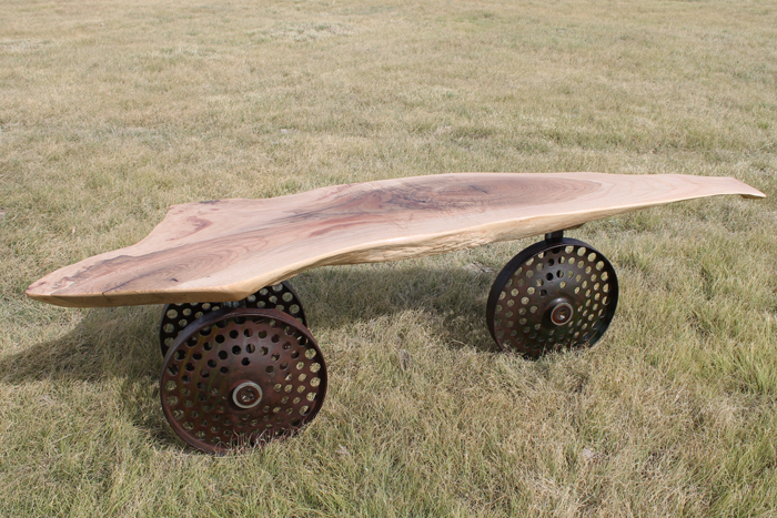 Press Wheel Coffee Table